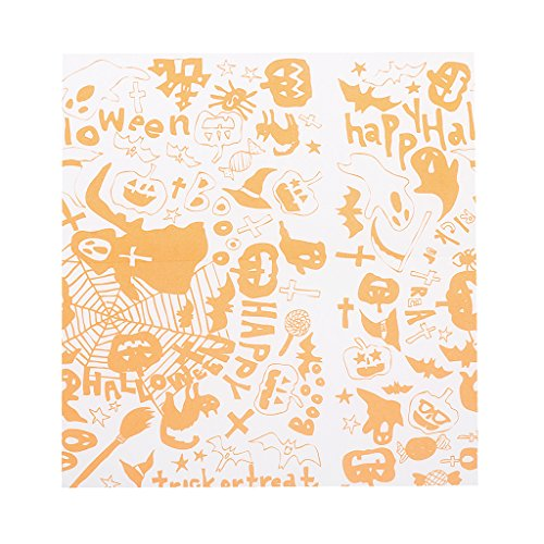 Dovewill Greaseproof Wax Nougat Wrapping Paper Halloween Party Burgers Cake -