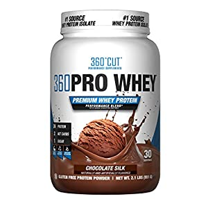 360CUT PRO Whey – Pure Whey Protein Isolate Protein Powder to Boost Metabolism, Build Lean Muscle Mass, Enhance Recovery – Gluten Free, Easy to Digest Whey Protein Powder – Chocolate Silk 30 Servings