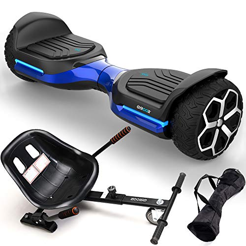Gyroshoes Hoverboard Off Road All Terrain hoverboards Self Balancing Hoverboard 6.5' T581 Flash Two-Wheel Self Balancing Hoverboard with Bluetooth Speaker and LED Lights UL 2272 Certified Best Gift