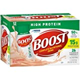 Boost High Protein Complete Nutritional Drink, Strawberry Bliss, 8 fl oz Bottle,12 Count (Pack of 5)