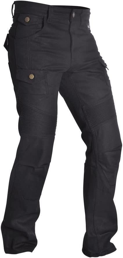 Black Short 32//29 Oxford SP-J4 Textile Cargo ARAMID Motorbike Motorcycle Jeans