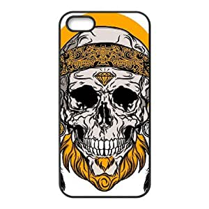 AKERCY Skull Arts Phone Case For iPhone 5,5S [Pattern-3]