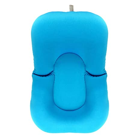 Per Cuscino da Bagno per Neonati Confortevole e Sicuro Cuscino per Bambini Bagnare (blu)