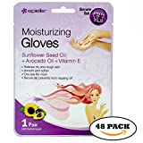 Moisturizing Gloves,Hand Moisturizer Gloves with Sunflower Seed Oil,Avocado Oil,Vitamin E for Women Kids Men (Pack of 48)