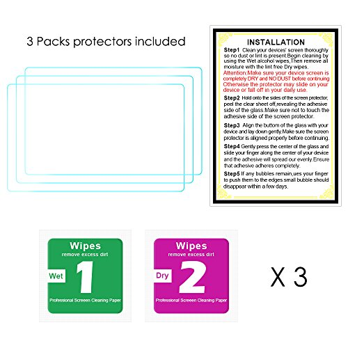 Glass Screen Protector for Nikon D3400 D3300 D3200 D3100 DSLR Camera, QIBOX Anti-Bubble Anti-scratch Anti-fingerprint Ultra-clear 9H Tempered Glass Shield[3 packs]