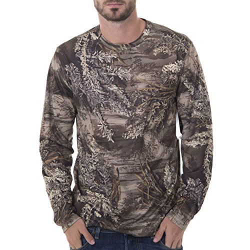 Camouflage Long Sleeve Camo T-shirt - Realtree Men's Long Sleeve Performance T-Shirt, Large, Realtree Max XT Camouflage