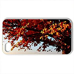 Autumn field - Case Cover for iPhone 4 and 4s (Fields Series, Watercolor style, White)