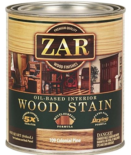 ZAR 10912 Wood Stain, QT, Colonial Pine (Stain Colonial Pine)