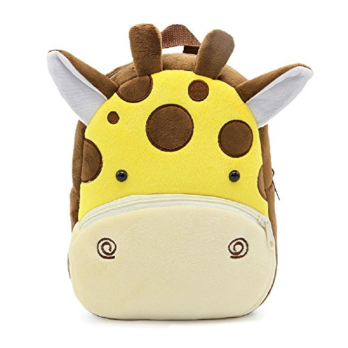 Children Toddler Preschool Backpack, Baby Kids Girls Boys Travel Lunch Bags, Cute Giraffe Design for 2-4 Years Old (Giraffe Baby Bottle)