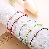THUNARAZ 5Pcs Friendship Bracelet Set with Message