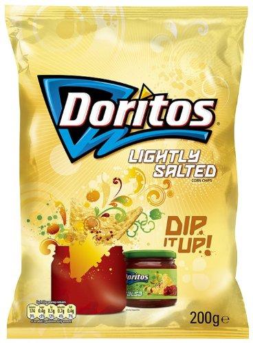 Doritos Lightly Salted 200 g (Lightly Salted Chips)