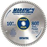 IRWIN Tools MARATHON Carbide Table / Miter Circular Blade, 10-Inch, 80T (14076)