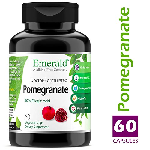 Pomegranate - Supports Heart Health, Promotes Good Cholesterol & Artery Health, Potent Antioxidant, Immune System Support - Emerald Laboratories (Fruitrients) - 60 Vegetable Capsules by Fruitrients