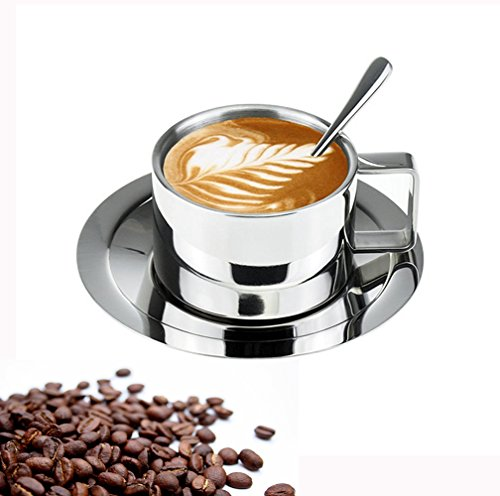 Coffee Cup Saucer Set Cappuccino