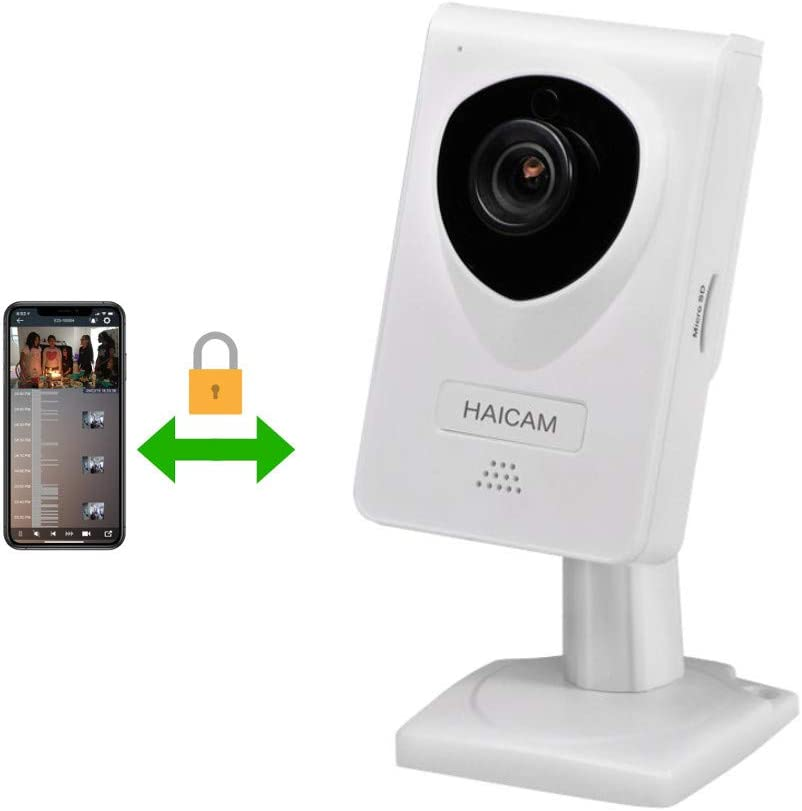 Haicam IP Camera End-to-End Encryption Home Security Surveillance Monitor with 2 Way Audio/Motion Sound Detection/Amazon/Apple/Google TV Apps - Free Cloud Service E21