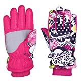 YOMOSI Ski Gloves, Winter Warmest Waterproof and Breathable Snow Gloves for Kids Skiing,Snowboarding(L,XL)