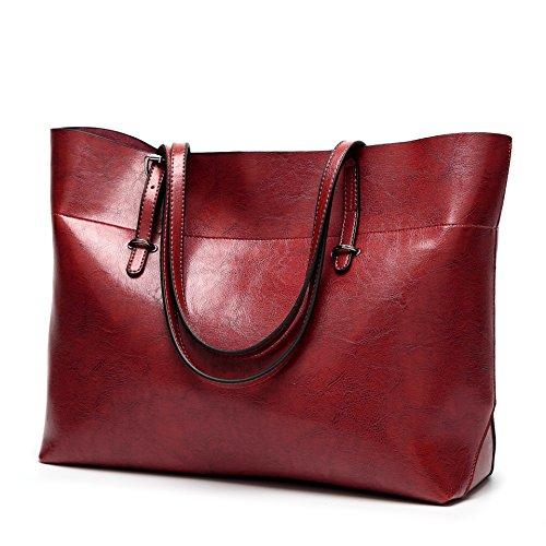 Lightweight Hobo Bag (Obosoyo Women Top Handle Satchel Handbags Bag Shoulder Hobo Messenger Bag Tote Purse Wine red)
