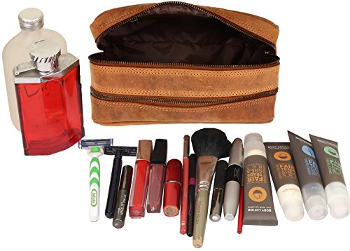 2ee1f3452cbd Handmade Buffalo Genuine Leather Toiletry Bag Dopp Kit Shaving and Grooming  Kit for Travel ~ Gift