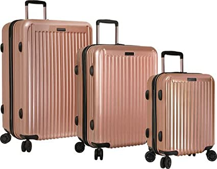 Amazon.com | Anne Klein Dubai 3 Piece Hardside Luggage Set, Rose ...