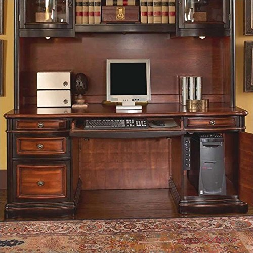 Coaster 800500 Pergola Double Pedestal Kneehole Credenza Desk by