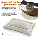 "Soothing ""Happy Cat"" Small Soft Sided Cat Carrier, Comfy Plush Sleep Pillow 4X Interior Space Airy Windows, Sunroof, Collapses, Folds, Locking Zippers Lightweight Stylish, Washable, Reduces Anxiety"