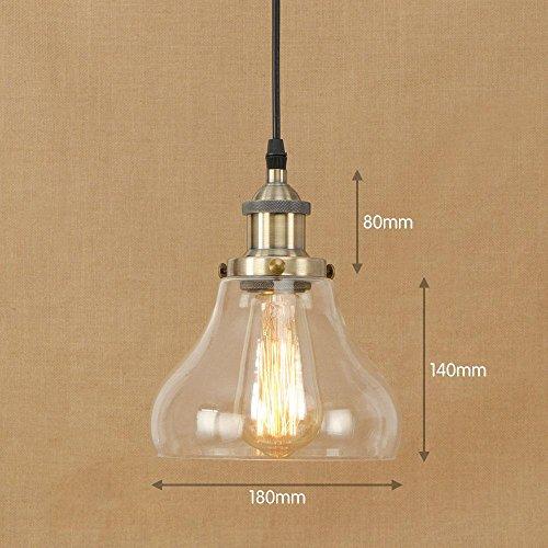 YMJ-Lumière décorative moderne lumières pendentif en verre, F