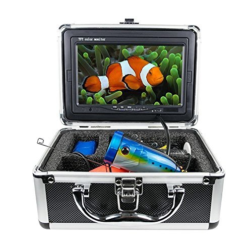 Tiangtech® Popular New Version Underwater Fishing Video Camera Kit | Professional Fish Finder with 7'' LCD Monitor and 50 Ft Cable by Tiangtech®