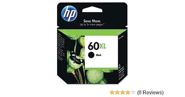 HP - HP 60XL, (CC641WN) High Yield Black Original Ink Cartridge CC641WN (DMi EA