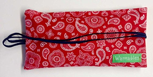 Warmables Mask Natural Heat Pack Bandana, Red (Best Treatment For Menstrual Migraines)