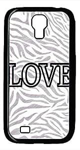 Samsung Galaxy S4 I9500 Black Hard Case - Zebra And Love Galaxy S4 Cases