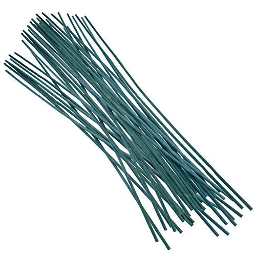 KINGLAKE 50 Pcs Green Bamboo Stakes,1.9 Feet/ 60 cm Plant Support Stakes