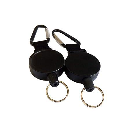 50dc9f4dd5 Toyvian Porta badge avvolgibile a scomparsa con moschettone per moschettone  per portachiavi con carta d'