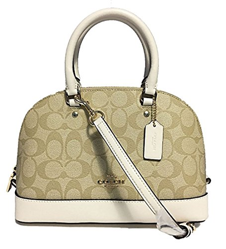 11899e2f78 Coach Signature Mini Sierra Satchel Light (Coach White Signature Handbag)