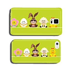 Easter Rabbit Sunglasses & Friends Green DIN cell phone cover case Samsung S6
