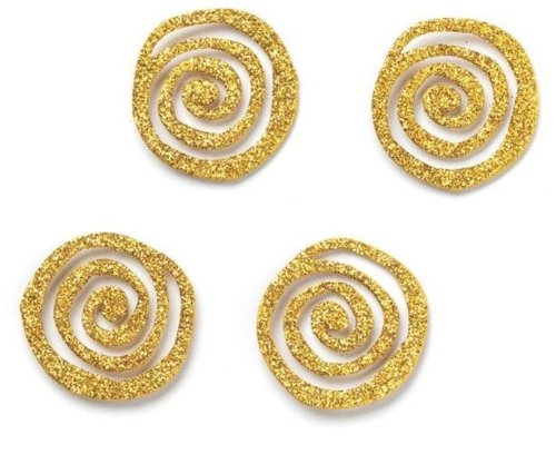 Embellish Your Story Gold Glittered Swirl Magnets  Set of 4  Embellish Your Story Roeda 101659EMB