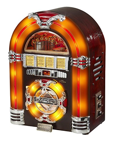 Crosley CR11CD Jukebox CD Player with Authentic Neon Ligh...