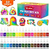 Tie Dye Kit, 32 Colors Shirt Dye Kit for Kids, Adults, User-Friendly, Add Water Only Indoor and Outdoor Activities Supplies DIY Dyeing Kit, All in One Creative Tie-Dye Kit Perfect for Party Group (Color: 32 colors)
