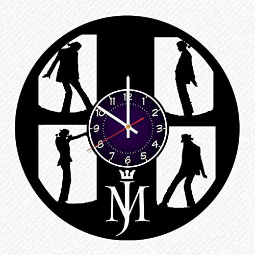 Michael Jackson Dance Vinyl Record 12 Inch Wall Clock Room Wall Decor Music Art Gift Modern Home Vintage Decoration Gift Birthday Halloween Christmas Gifts for $<!--$19.99-->