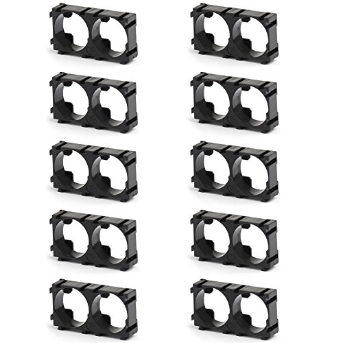Areyourshop 10× 18650 Battery Pack Cell Spacer Shell Radiating Plastic Holder Bracket Storage