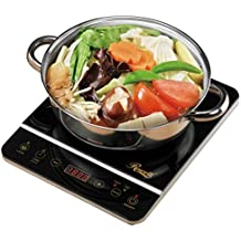 """Rosewill 1800 Watt Induction Cooker Cooktop , Included 10"""" 3.5 Qt 18-8 Stainless Steel Pot, Gold, RHAI-16001"""