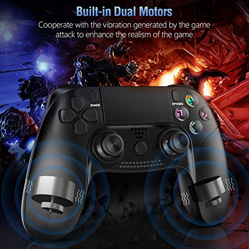 Controller for PS4, Gamory Wireless Controller for Playstation 4/PS4 Pro/Slim, with Dual Vibration, Speaker & Stereo Headset Jack, Touch Pad & Six-axis Motion Control, Functional LED Indicator