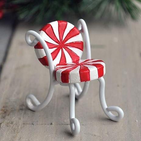 fiddlehead fairy village candy cane chair