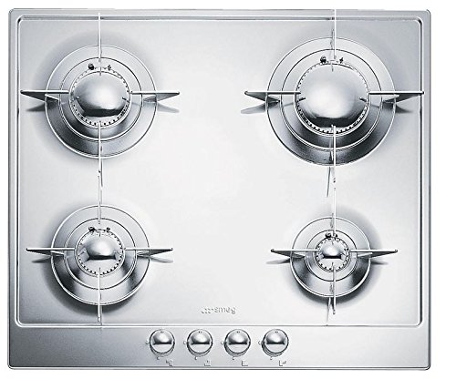 Smeg PU64ES 24' Piano Design Gas Cooktop, 4 Burners, Stainless Steel Pacific Specialty Brands - Drop Ship