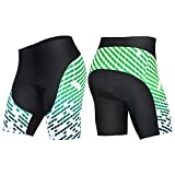 4ucycling Men's Cycling Shorts 3D Gel Padded Bicycle Riding Pants Bike Biking Clothes Cycle Wear Tights Review