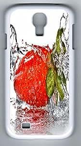 Strawberry Splash Hard Cover Back Case For Samsung Galaxy S4,PC White Case for Samsung Galaxy S4