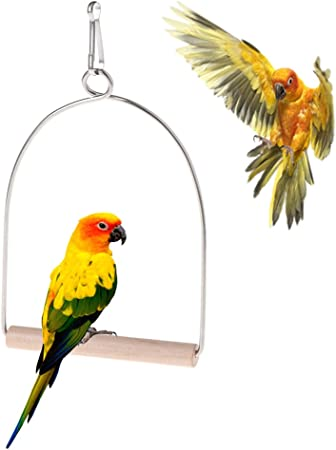 Cuigu p/ájaros en Madera Naturales Loros Loros Colgantes Columpio Jaula Aves Juguetes