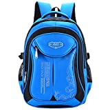 Macbag School Backpack Bookbag Durable Camping Backpack for Boys and Girls (Blue 2)