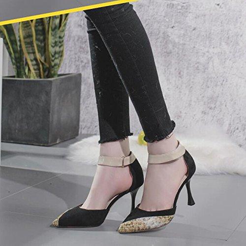 UK Hauts 4 EU Mode 5 Court Talon 37 Talons Noir Mariage Stilettos Femmes 8cm Toe Stiletto Chaussures Suede élégant Pointu Black CvXUqawxH