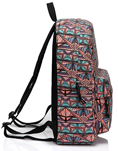 School Backpack for Teen Girls,Fashion Canvas Rucksack BookBag with Padded Laptop Sleeve by Vaschy (Image #4)