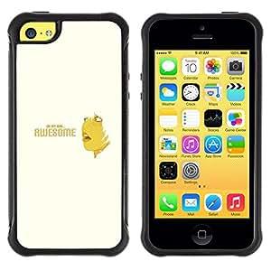 Suave TPU GEL Carcasa Funda Silicona Blando Estuche Caso de protección (para) Apple Iphone 5C / CECELL Phone case / / Awesome Oh Quote Slogan Sign Woman /